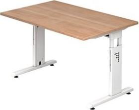 Hammerbacher Ergonomic O-Serie OS12/N/W, Nussbaum, Schreibtisch