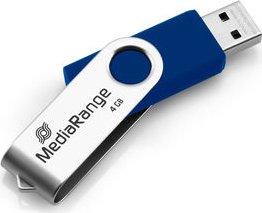 MediaRange USB Flexi-Drive blau/silber 4GB, USB-A 2.0 (MR907-BLUE)