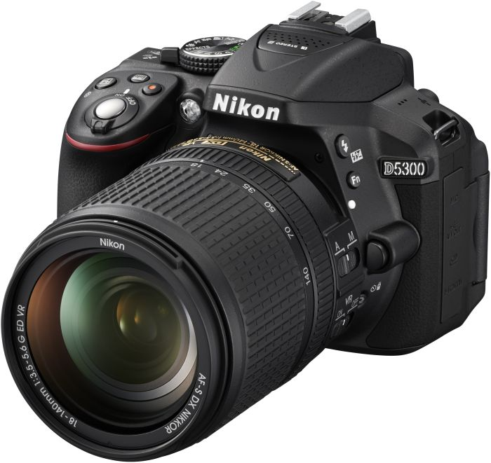 Nikon D5300 black with lens AF-S DX 18-140mm 3.5-5.6G ED VR (VBA370K002)