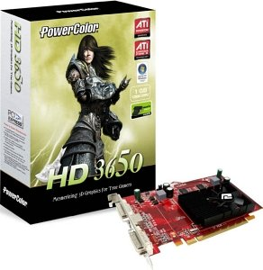 PowerColor Radeon HD 3650, 1GB DDR2, 2x DVI, TV-out (R63B-PI3F)