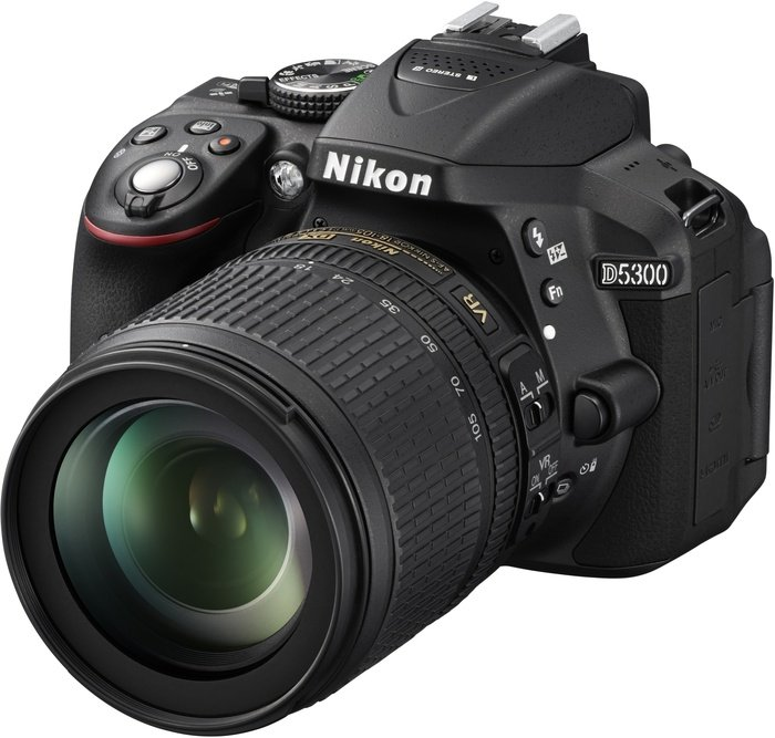 Nikon D5300 black with lens AF-S DX 18-105mm 3.5-5.6G ED VR (VBA370K004)