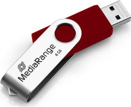 MediaRange USB Flexi-Drive rot/silber 4GB, USB-A 2.0 (MR907-RED)
