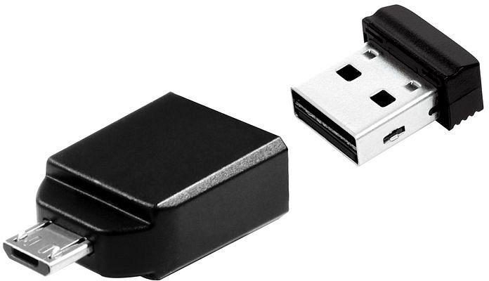 Verbatim store 'n' Stay Nano with Micro USB adapter 8GB, USB-A 2.0/USB 2.0 micro-B (49820)