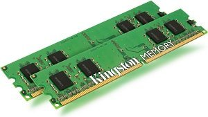 Kingston ValueRAM DIMM kit 1GB, DDR2-400, CL3, reg ECC (KVR400D2R3K2/1G)