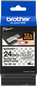Brother TZe-SE5 Sicherheitsbeschriftungsband 24mm, black/white (TZESE5)