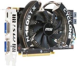 MSI N460GTX Cyclone 1GD5/OC, GeForce GTX 460, 1GB GDDR5, 2x DVI, Mini HDMI (V232-014R)