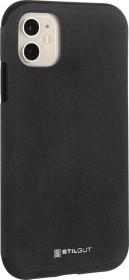 Stilgut Alcantara Cover für Apple iPhone 11 schwarz (B08292SQBM)