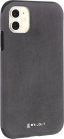 Stilgut Alcantara Cover für Apple iPhone 11 grau (B082921T4G)