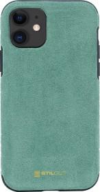 Stilgut Alcantara Cover für Apple iPhone 11 grün (B082927PGR)