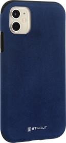 Stilgut Alcantara Cover für Apple iPhone 11 blau (B08292FZNW)
