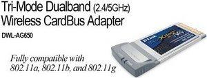 D-Link AirXpert DWL-AG650, Cardbus