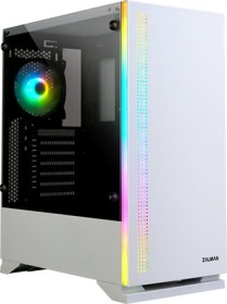 Zalman S5 weiß, Glasfenster
