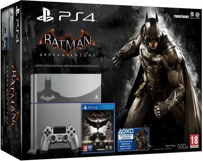 Sony Playstation 4 - 500GB Batman: Arkham Knight Limited Edition Bundle grey