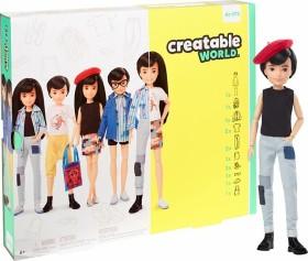 Mattel Creatable World Deluxe Character Kit Black Straight Hair (GGG54)