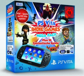 Sony PlayStation Vita Wi-Fi Mega Pack Bundle Indie schwarz