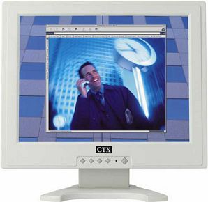 "CTX S700A white, 17"", 1280x1024, analog, audio"