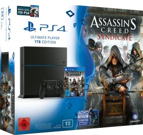 Sony PlayStation 4 - 1TB Assassin's Creed: Syndicate & Watch Dogs Bundle schwarz