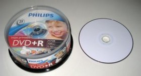 Philips DVD+R 8.5GB DL 8x, 25-pack Spindle printable