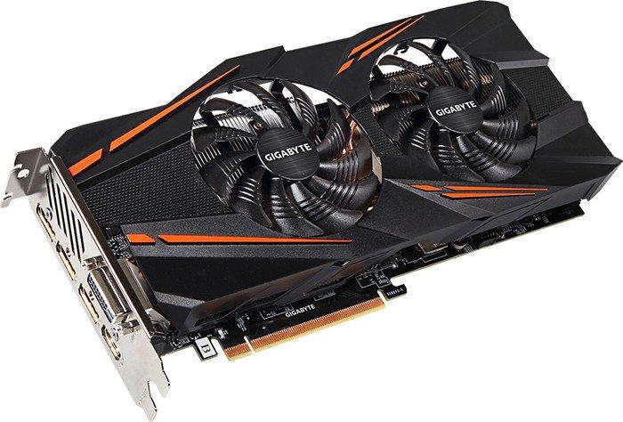 Gigabyte GeForce GTX 1070 Windforce, 8GB GDDR5, DVI, HDMI, 3x DP (GV-N1070WF2-8GD)