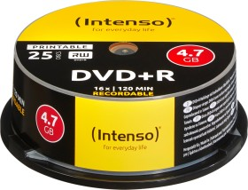 Intenso DVD+R 4.7GB 16x, 25-pack Spindle printable (4811154)