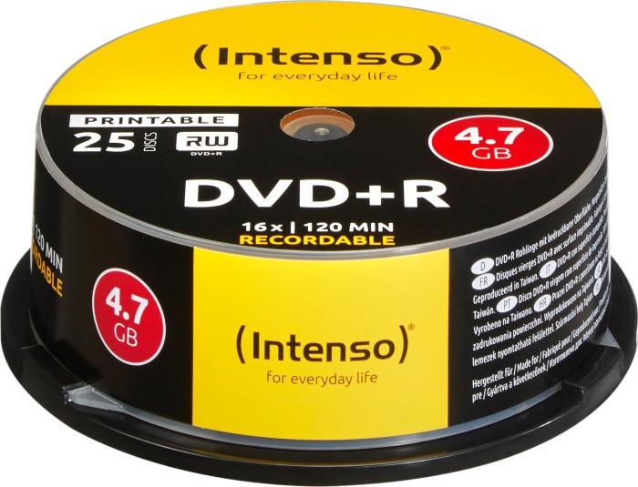 Intenso DVD+R 4.7GB 16x, 25er Spindel printable (4811154)