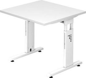 Hammerbacher Ergonomic O-Serie OS08/W/W, weiß, Schreibtisch