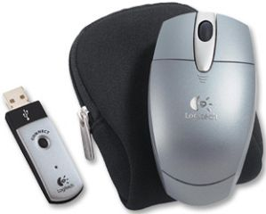 Logitech Cordless Optical Mouse for Notebooks srebrny, USB (931006-0914)