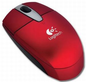 Logitech Cordless Optical Mouse for Notebooks rot, USB (931151-0914)