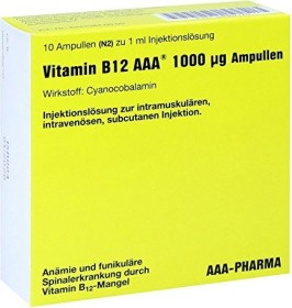 AAA Pharma vitamin B12 ampoules, 10ml