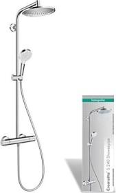 Hansgrohe Crometta S Showerpipe 240 1jet Thermostat Duschsystem chrom (27267000)