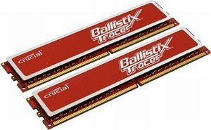 Crucial Ballistix Tracer RED DIMM Kit 4GB, DDR2-800, CL4-4-4-12 (BL2KIT25664AR80A)