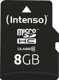 Intenso R20/W12 microSDHC 8GB Kit, Class 10 (3413460)