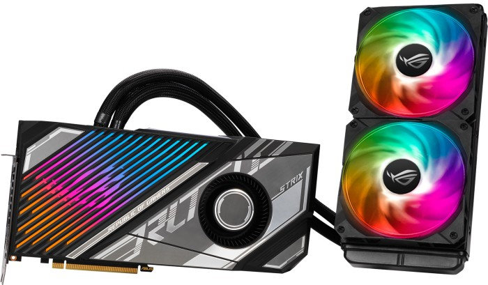 ASUS ROG Strix LC GeForce RTX 3080 Ti OC, ROG-STRIX-LC-RTX3080TI-O12G-GAMING, 12GB GDDR6X, 2x HDMI, 3x DP (90YV0GT2-M0NM00)