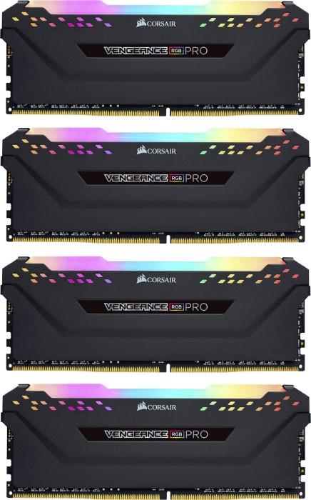 Corsair Vengeance RGB PRO schwarz DIMM Kit 32GB, DDR4-3200, CL16-18-18-36 (CMW32GX4M4C3200C16)