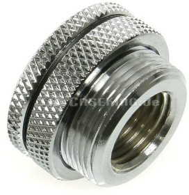 "Bitspower water-pour through lid shiny silver 1/4"" (BP-WTP-C04)"