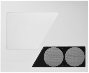 NZXT side panel with side panel window for phantom 410 white (PHAN-W02)