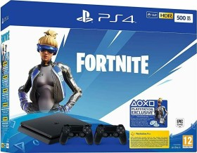 Sony PlayStation 4 Slim - 500GB inkl. 2 Controller Fortnite Neo Versa Bundle schwarz (9939009)