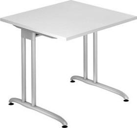 Hammerbacher Ergonomic B-Serie BS08/W, weiß, Schreibtisch