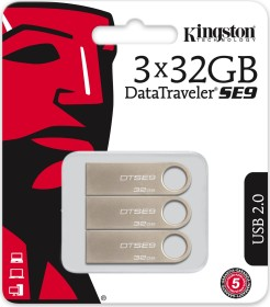 Kingston DataTraveler SE9 32GB, USB-A 2.0, 3er-Pack (DTSE9H/32GB-3P)