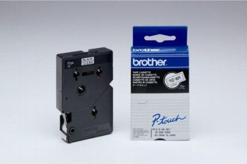 Brother TC-101A 12mm schwarz/transparent -- via Amazon Partnerprogramm