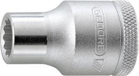 """Gedore D 19 1.1/4AF zöllig Außenzwölfkant Stecknuss 1/2"""" 1.1/4""""x41.5mm (6138190)"""