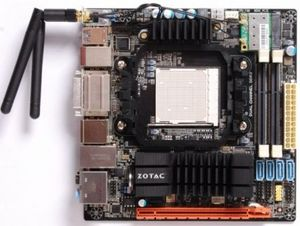 Zotac 890GX-ITX WiFi, 890GX (Socket AM3, dual PC3-10667S DDR3) (890GXITX-B-E)