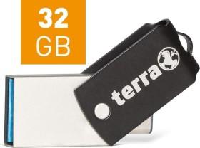 Wortmann Terra USThree A+C Typ-C schwarz 32GB, USB-C 3.0/USB-A 3.0 (2190001)