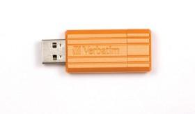 Verbatim Store 'n' Go PinStripe orange 8GB, USB-A 2.0 (47389)