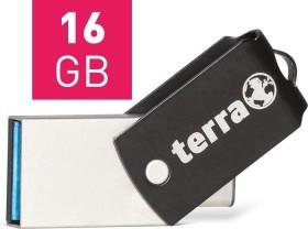 Wortmann Terra USThree A+C Typ-C schwarz 16GB, USB-C 3.0/USB-A 3.0 (2190000)