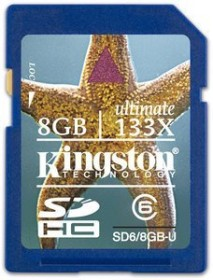 Kingston Ultimate 133x SDHC 8GB, Class 6 (SD6/8GB-U)
