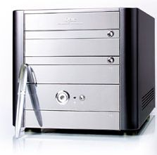 Soltek QBIC EQ3401A Mini-Barebone aluminium (Socket 478/200/dual PC3200 DDR)