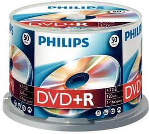 Philips DVD+R 4.7GB,  50er-Pack (DR4S6B50F)