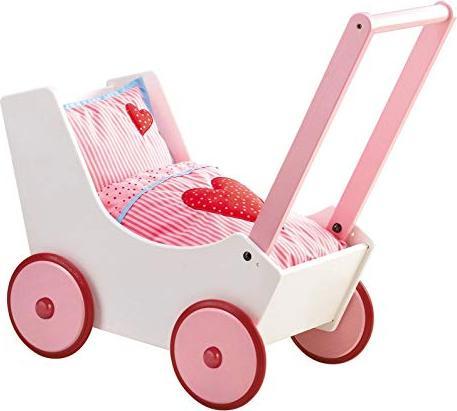 HABA Puppenwagen Lauflernwagen Herzen (0950) -- via Amazon Partnerprogramm