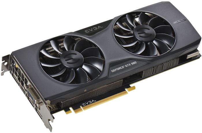 EVGA GeForce GTX 980 SuperClocked ACX 2.0, 4GB GDDR5, DVI, HDMI, 3x DisplayPort (04G-P4-2983-KR)